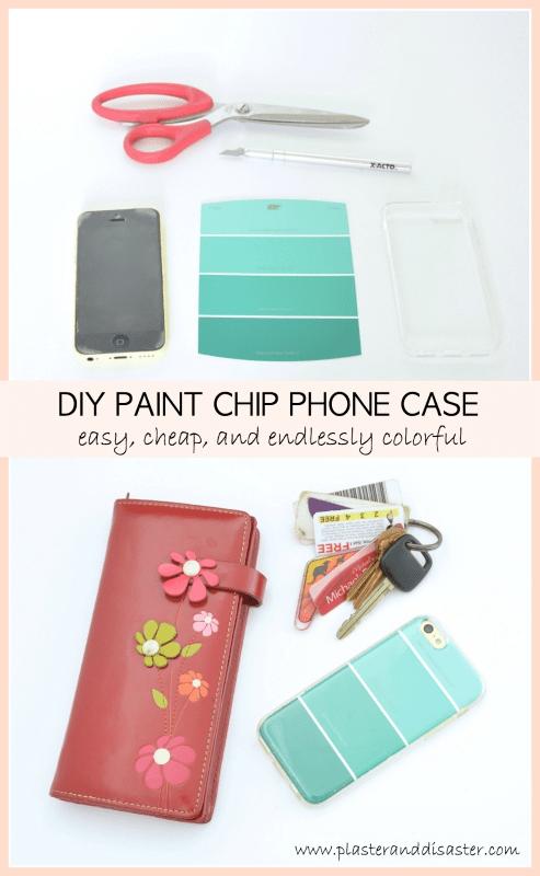 DIY paint chip phone case -- Plaster & Disaster