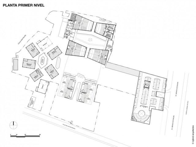 cineteca nacional del siglo XXI / rojkind arquitectos (7) planta primer nivel
