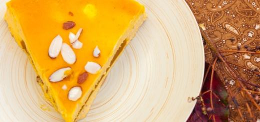 Pumpkin Cheesecake with Pumpkin Gelatin Filling - www.platingpixels.com