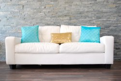 Small Of White Leather Couch