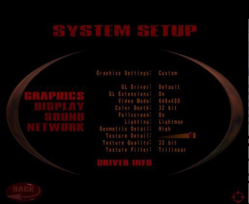 Quake 3 graphical settings options