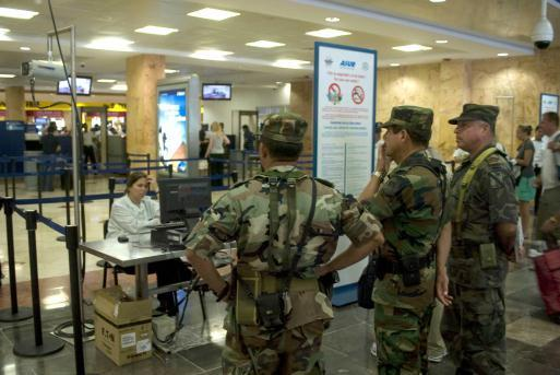 Cancun Airport Security Check