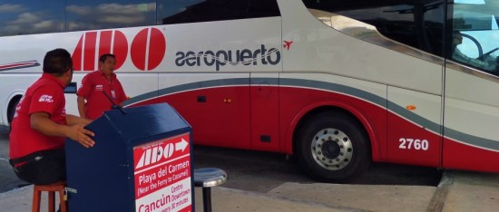 Ado Bus from Cancun Airport to Playa del Carmen