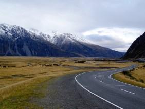 Route vers le Mont Cook