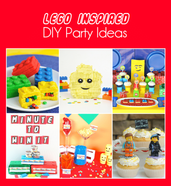 Everything you need for an awesome DIY Lego Party #Legos #party