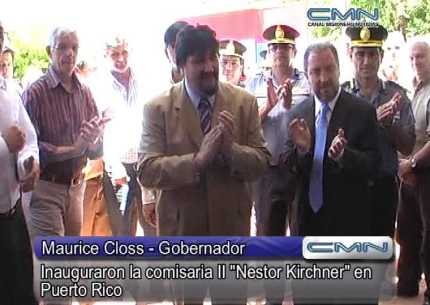 "Maurice Closs inaugura la comisaría ""Néstor Carlos Kirchner"""