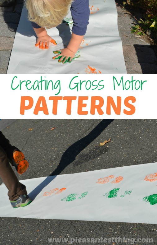 Get moving and explore patterns using gross motor activities