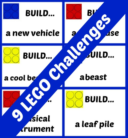 9 Printable LEGO challenges - a creative activity for builders!