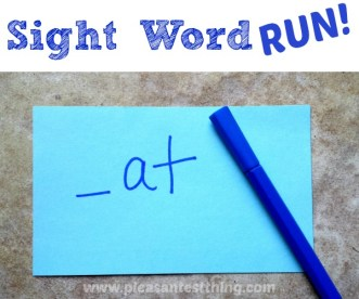 Sight Word Run! Active play for early readers