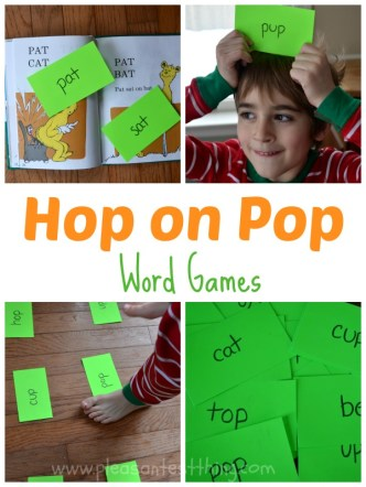 Word Games inspired by Hop on Pop!