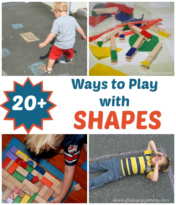 Ideas to Practice and Play with Shapes!
