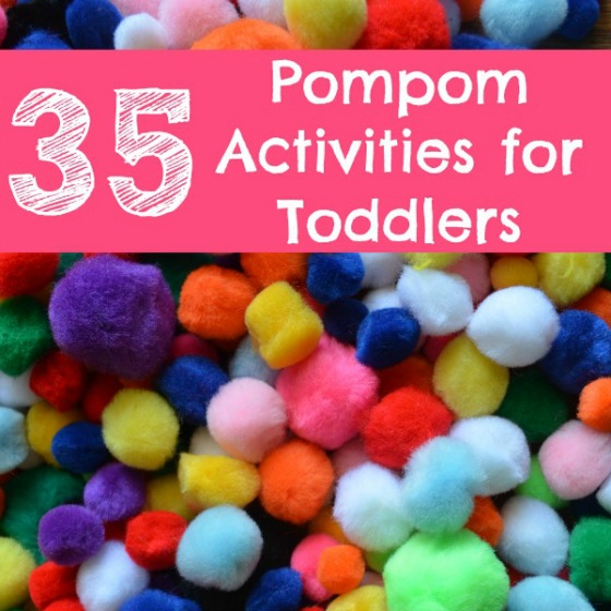 Pom pom activities that Toddlers will LOVE! Fun sensory activities for kids!