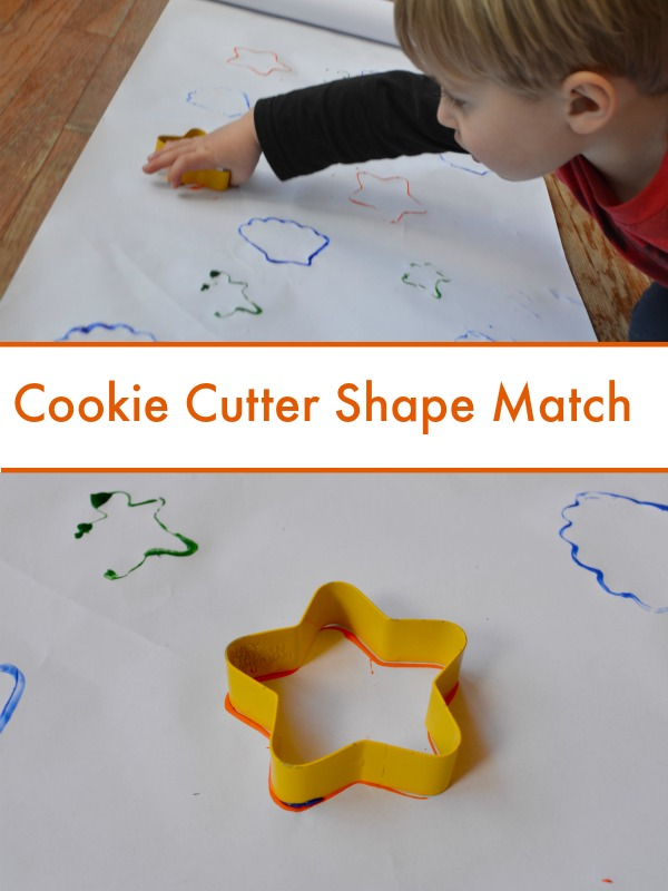 Cookie Cutter Shape Match - my toddler will LOVE this!