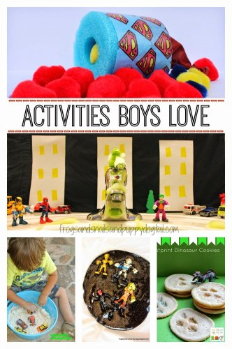 Activities Boys Love! Fun ideas for play, art, crafts, snacks, and more!