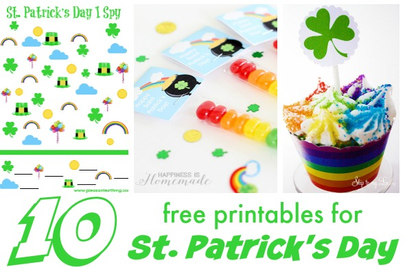 Free printables for St. Patrick's Day. Fun ideas for kids!