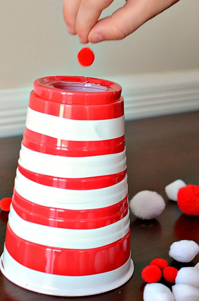 Super FUN Cat in the Hat fine motor game - easy to make!