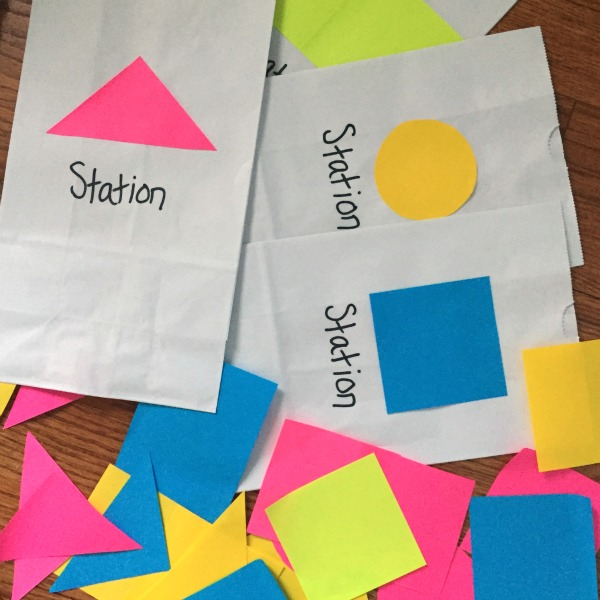 Shapes train station - fun activity to practices shapes!