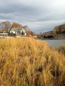 Pickman Marsh, Salem, MA. View of the river leading to the bay.