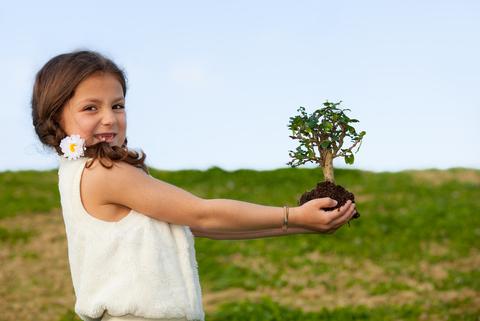 little girl tree