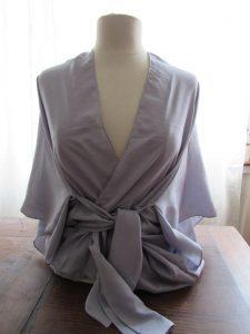 kimono gris à nouer 1