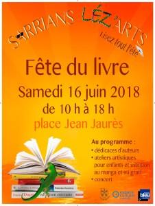 Salon du livre Srrians juin 18