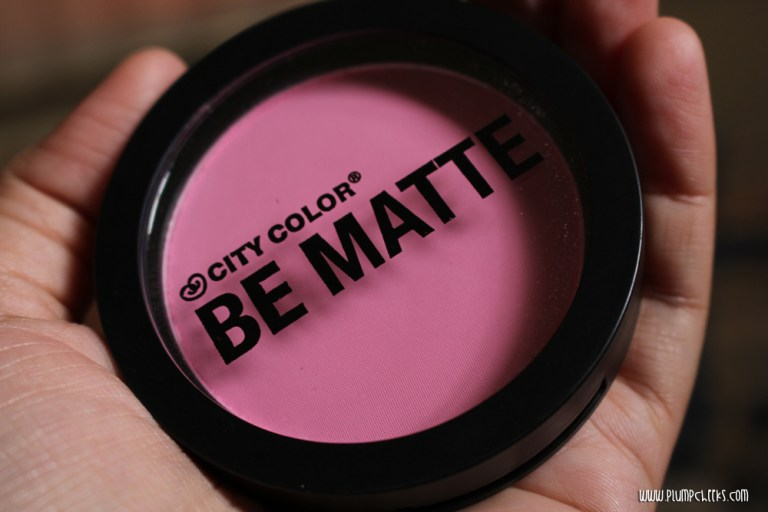 City Color BE MATTE Blush in Pink Grapefruit Review