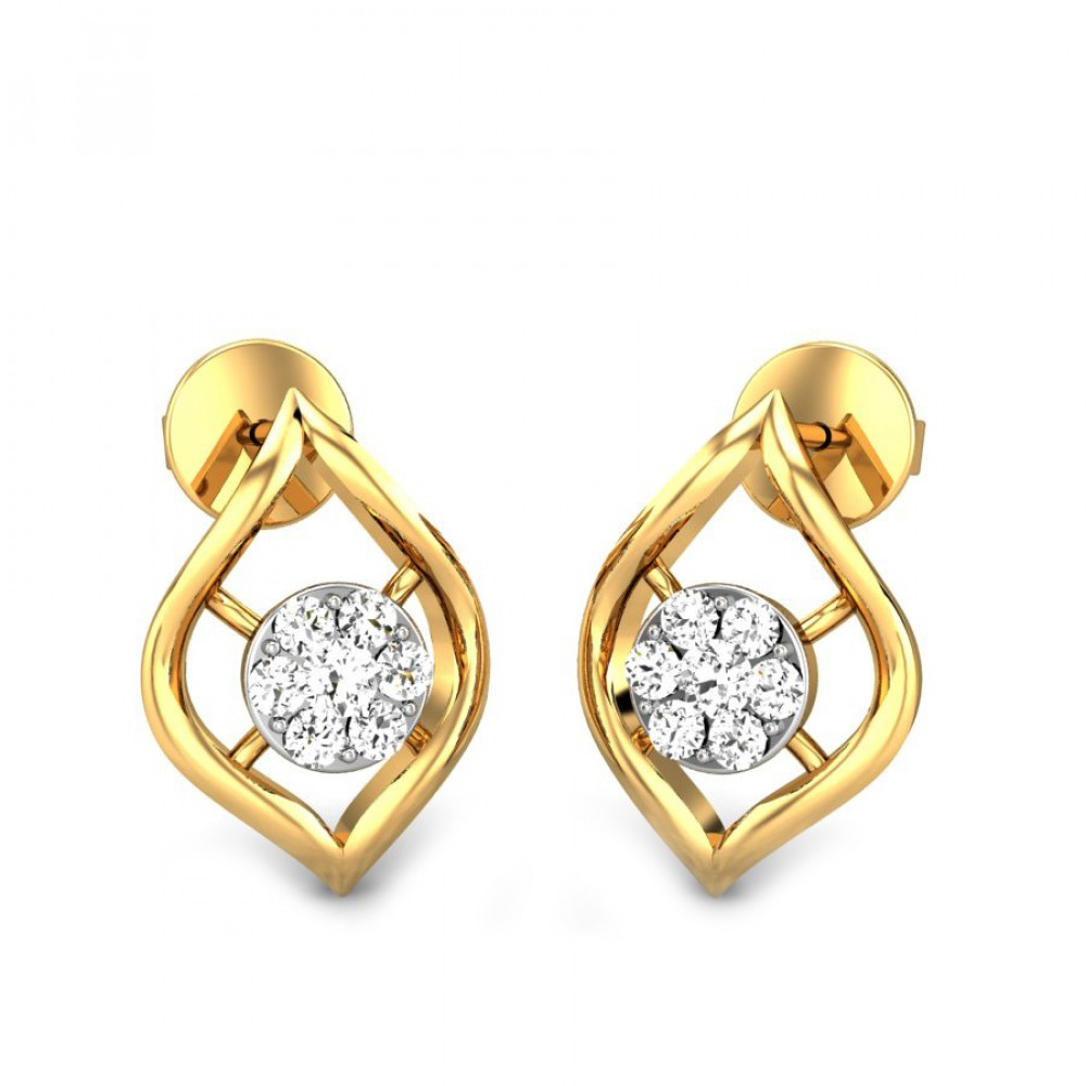 Manly Wedding Gown Diamond Earrings Women Certified Candere By Kalyan Jewellers Bis Hallmark Yellow G Cari Ziah Diamond Earrings Candere By Kalyan Jewellers Yellow G Cari Ziah Diamond Earrings Women wedding rings Diamond Earrings For Women