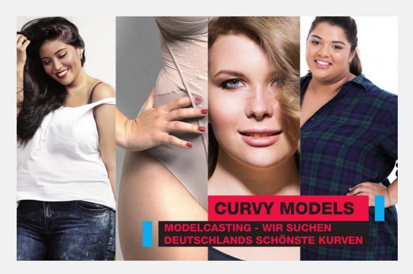 Jetzt bewerben! Curvy Models für TV-Wettbewerb von RTL2 gesucht