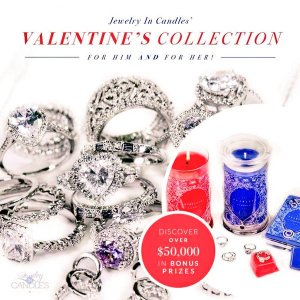Jewelry in candles valentine gift