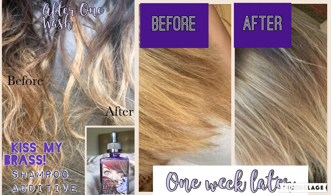 Color-Correct your hair instantly by Kiss My Brass shampoo additive