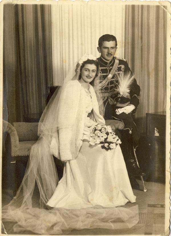 Цана и Воја Туфегџић, на дан венчања