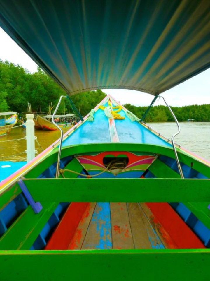 Longtail Boat ride out to James Bond Island, Thailand