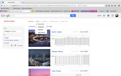 google flights exlope