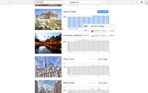greece google flights explorer