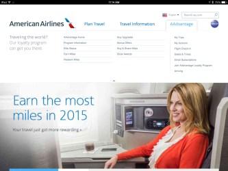 american airlines website