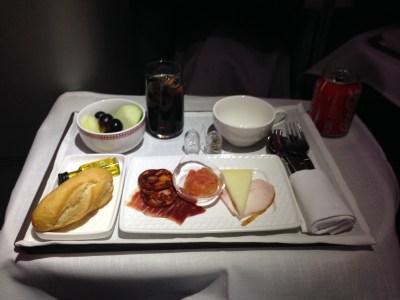 iberia business class meal