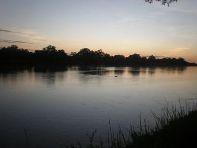 sunset south luangwa zambia