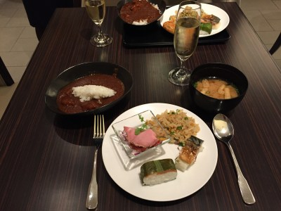 japan airlines first class lounge dinner narita nrt
