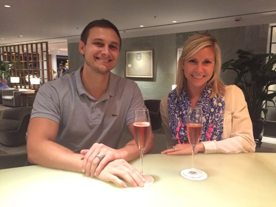 cathay pacific the pier first class lounge hkg hong kong airport restaurant champagne