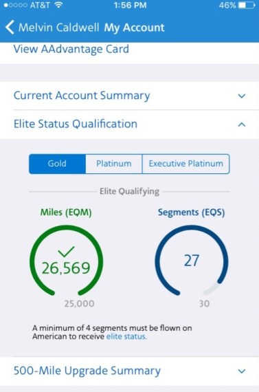 American Airlines miles earning