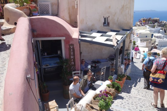 santorini greece airbnb rental house cave oia island blue domes