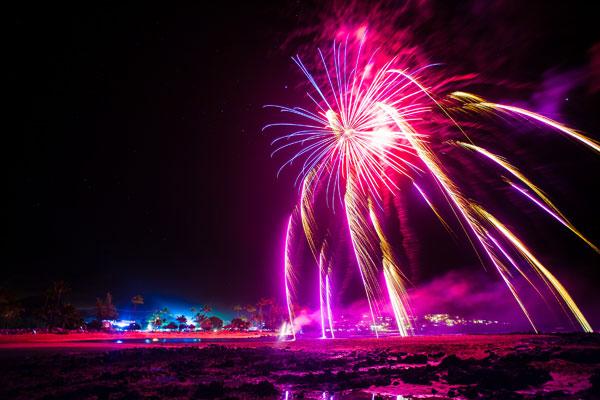 New Years Eve Fireworks on Poipu Beach