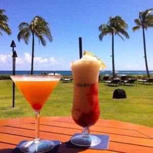 Cocktails at The Koa Kea Resort