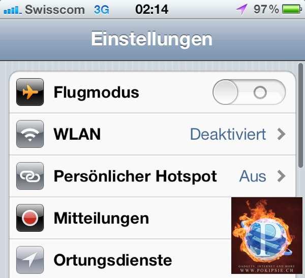 Thetering auf meinem iPhone