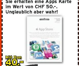 Schweiz – iTunes Karten Aktion bei Interdiscount