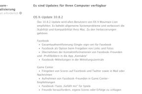 OS X Update 10.8.2 kurz nach iOS 6 nun auf zum Download freigegeben