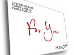 Geschenkkarte Manor for you