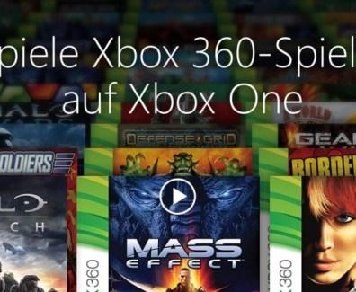 Xbox One – Abwärtskompatibilität