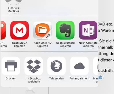 Tutorial – Anhänge in iCloud sichern