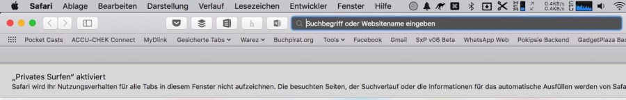 Tutorial am Mac Privat Surfen